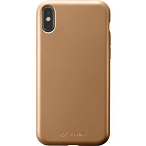 CellularLine SENSATION Metallic silikonový kryt Apple iPhone X/XS zlatý