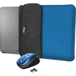 """Trust myš + obal na notebook Yvo Reversible 15.6"""" modrý"""