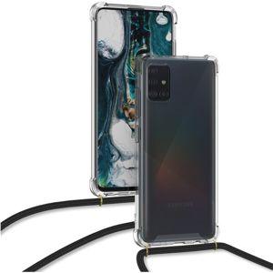 Forcell Cord ochranný kryt se šnůrkou Samsung Galaxy A71 černé
