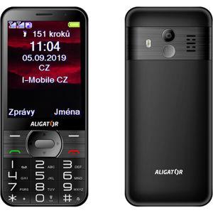ALIGATOR A900 GPS Senior černý + stolní nabíječka