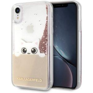 Karl Lagerfeld Peek a Boo KLHCI61PABGNU TPU Glitter iPhone XR zlaté