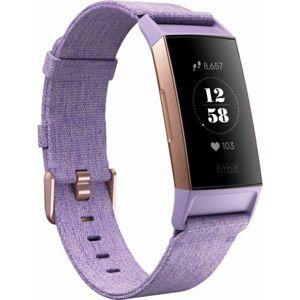 Fitbit Charge 3 Special Edition (NFC) tkaný řemínek fialový / růžovozlatý hliník