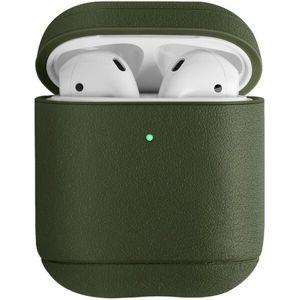 UNIQ Terra kožené ochranné pouzdro pro Apple AirPods (2019) olivové