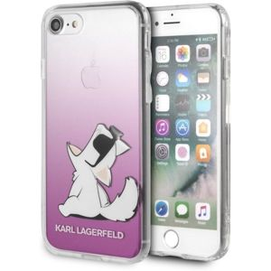 Karl Lagerfeld Fun Choupette Glasses Hard Case iPhone 7/8/SE(2020) růžové