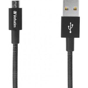 Verbatim datový a nabíjecí kabel s MicroUSB, 100cm černý