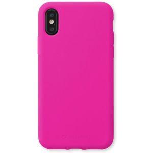 CellularLine SENSATION ochranný silikonový kryt Apple iPhone XS Max růžově neonový