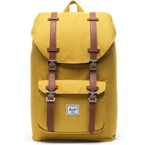 Herschel Little America M batoh žlutý se sedlově hnědou