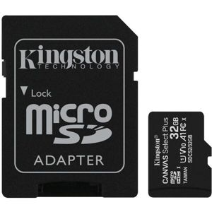 Kingston Canvas Select Plus microSDHC 32GB A1 Class 10 100MB/s + adaptér