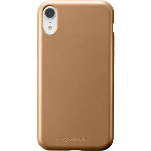 CellularLine SENSATION Metallic silikonový kryt Apple iPhone XR zlatý