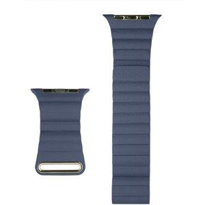 COTEetCI kožený magnetický řemínek Loop Band pro Apple Watch 42/44mm tmavě modrý