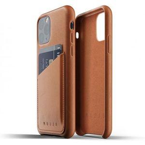 Mujjo Full Leather Wallet pouzdro iPhone 11 Pro žlutohnědé