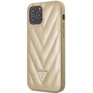 """Guess V Quilted kryt iPhone 12 Pro Max 6.7"""" zlatý"""