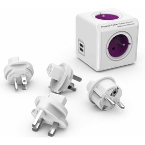 PowerCube ReWirable USB + Travel Plugs zásuvka fialová