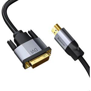 Baseus Enjoyment Series 4K HDMI/DVI kabel, 2m, tmavě šedý