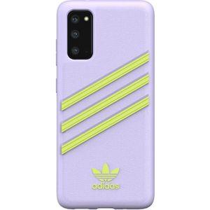 ADIDAS Originals Moulded Woman PU kryt Samsung Galaxy S20 fialový/žlutý