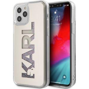 """Karl Lagerfeld Liquid Glitter Multi Mirror kryt iPhone 12 Pro Max 6.7"""" stříbrný"""
