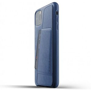 Mujjo Full Leather Wallet pouzdro iPhone 11 Pro Max modré