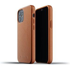 Mujjo Full Leather kryt Apple iPhone 12 mini žlutohnědý