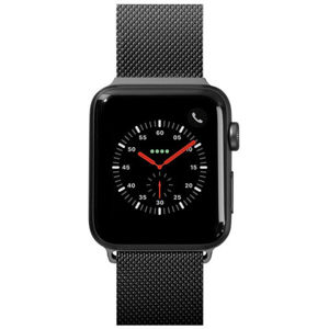 LAUT Steel Loop pásek na Apple Watch 42/44 mm černý