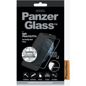 PanzerGlass Edge-to-Edge Swarovski Privacy CamSlider iPhone X/XS/11 Pro černé - Poškozený box