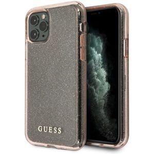 Guess Glitter kryt iPhone 11 Pro Max růžový