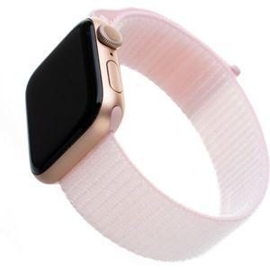 FIXED Nylon Strap nylonový pásek pro Apple Watch 44mm/ Watch 42mm růžový