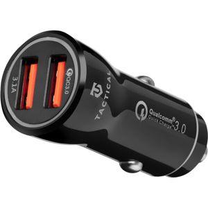 Tactical 2x USB-A QC 3.0 autonabíječka černá