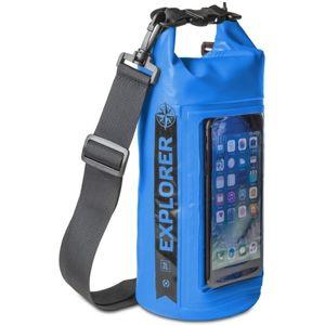 """CELLY Explorer voděodolný vak 2L s kapsou na telefon do 6,2"""" modrý"""