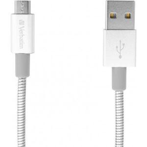 Verbatim datový a nabíjecí kabel s MicroUSB, 100cm stříbrný