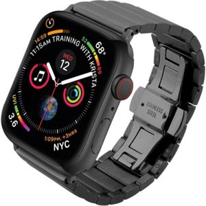 COTEetCI Stainless ocelový článkový řemínek Apple Watch 38/40mm černý