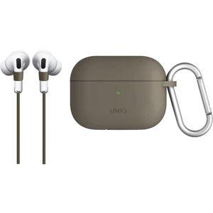 UNIQ Vencer silikonové pouzdro pro Apple AirPods Pro béžové