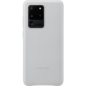 Samsung EF-VG988LS kožený zadní kryt Galaxy S20 Ultra 5G světle šedý