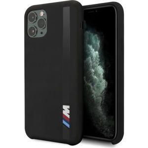 BMW Vertical Sripe silikonový kryt iPhone 11 Pro Max černý