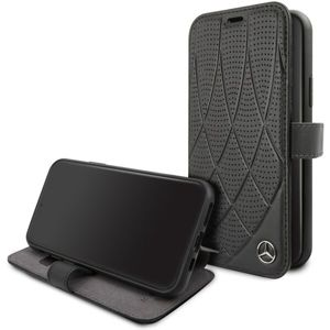 Mercedes Quilted Perf Book pouzdro iPhone 11 černé
