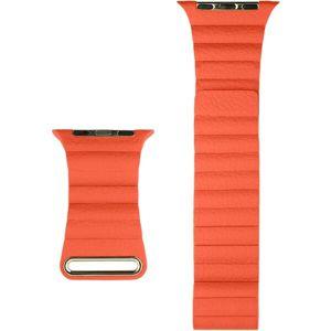 COTEetCI kožený magnetický řemínek Loop Band pro Apple Watch 38/40mm oranžový