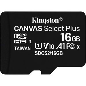 Kingston Canvas Select Plus microSDHC 16GB A1 Class 10 100MB/s + adaptér