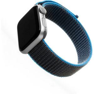 FIXED Nylon Strap nylonový pásek pro Apple Watch 40mm/ Watch 38mm šedomodrý