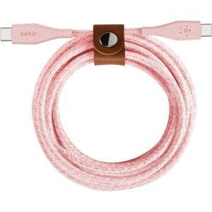 Belkin DURATEK Boost Charge USB-C/USB-C kabel, 1,2m, růžový
