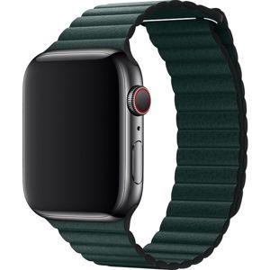Apple Watch kožený řemínek 44/42mm vel. L piniově zelená