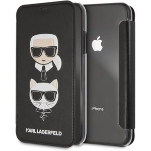Karl Lagerfeld Karl and Choupette Book pouzdro iPhone XR černé