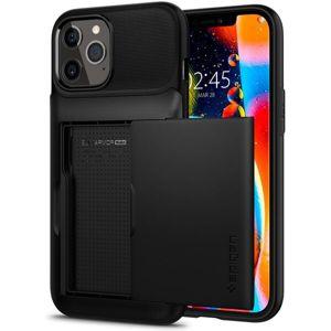 Spigen Slim Armor Wallet kryt iPhone 12 Pro Max černý