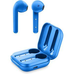 Cellularline Java True wireless sluchátka s dobíjecím pouzdrem modrá