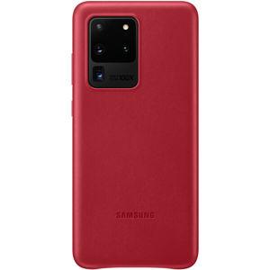 Samsung EF-VG988LR kožený zadní kryt Galaxy S20 Ultra 5G červený