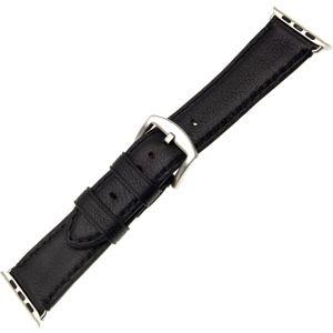 FIXED Berkeley Kožený řemínek Apple Watch 42/44 mm se stříbrnou sponou, velikost L, černý