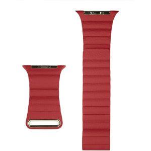 COTEetCI kožený magnetický řemínek Loop Band pro Apple Watch 42/44mm červený