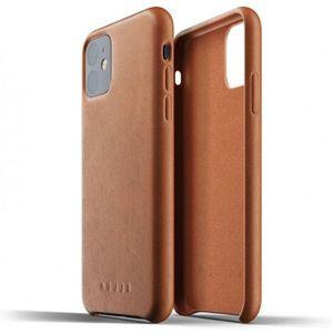 Mujjo Full Leather kryt Apple iPhone 11 žlutohnědý