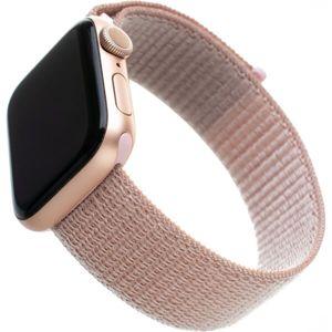 FIXED Nylon Strap nylonový pásek pro Apple Watch 40mm/ Watch 38mm růžově zlatý