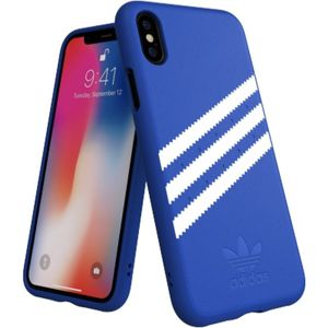 ADIDAS Originals Moulded Suede pouzdro iPhone X/XS modré