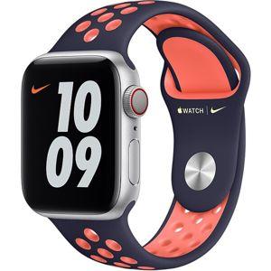 Apple Watch sportovní řemínek Nike 40/38mm modročerný / jasně mangový