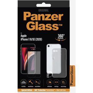 PanzerGlass Edge-to-Edge Bundle Apple iPhone 6/6s/7/8/SE (2020) černé + pouzdro